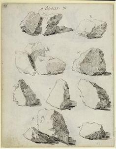 Study of Rocks,  Casper David Friedrich (1774-1840) /  Collection of Kupferstichkabinett (SMPK) - Berlin