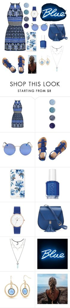 """""""Ocean Breeze"""" by kittyfashionqueen ❤ liked on Polyvore featuring Terre Mère, Dorothy Perkins, Sonix, Essie, Yoki, Seletti and New Directions"""