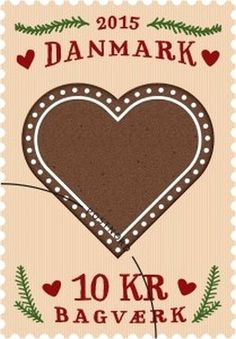 Stamp: Gingerbread heart (Denmark) (Danish Honey cakes) Mi:DK 1862,AFA:DK 1837 Heart In Nature, Going Postal, I Love Heart, Small Words, Stamp Collecting, Mail Art, Postage Stamps, Olympics, Seals