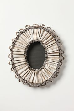 Art:  Oval Frame made from cardboard