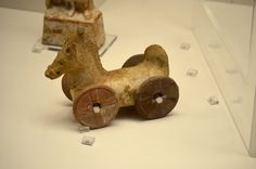 athens-archaeological-museum: Toy-horse, from Athens (4th century A.D)