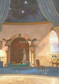 Hogwarts Common Rooms: Ravenclaw I think we'd have more books though. maybe there's a code you need to know in that book section that opens it up to this huge room full of books Harry Potter Casas, Magia Harry Potter, Arte Do Harry Potter, Harry Potter Universal, Ravenclaw, Hufflepuff Common Room, Harry Potter Pictures, Harry Potter Quotes, Monopole Harry Potter