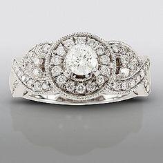 David Tutera- -1 cttw Certified Diamond Engagement Ring 14k White Gold