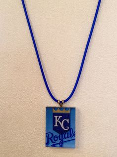 KC Royals Necklace on Blue Cord, $16.50