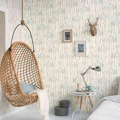 BuyGalerie Skandinavia Tree Wallpaper, Blue 51142801 Online at johnlewis.com