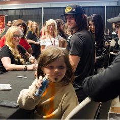 Norman Reedus and pint sized Daryl
