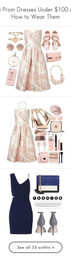 """""""8 Prom Dresses Under $100 & How to Wear Them"""" by polyvore-editorial ❤ liked on Polyvore featuring promdresses, waystowear, Miss Selfridge, Miu Miu, New Look, MANGO, Accessorize, Chanel, Tom Ford and Carolee"""