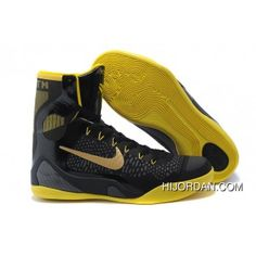 newest 8b7ca f8ead Nike Kobe 9 Elite Black Vibrant Yellow High Top Copuon, Price   104.63 - Air