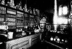 Interior of Groat's Store Elkhorn, Manitoba, Canada early 1900's History Historic Historical Photos Photographs Pics Pictures Vintage Old West Canadian Settlement Prairies