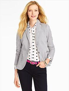 Talbots - Fine Stripe Blazer   Jackets   Misses