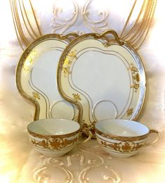 """Thanks for the kind words! ★★★★★ """"I absolutely adore these delicate china sets! They are now part of my treasured teatime pieces! Thank you!"""" efrierson6111 http://etsy.me/2D1AvH2 #etsy #housewares #noritakemoriyama #teacupssnacktray #noritakeporcelain #japaneseporcelai"""