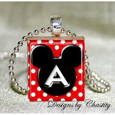 Personalized Mickey Mouse Pendant & Ball by DesignsbyChastity, $6.00