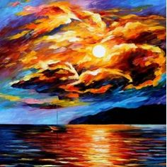 Untitled  (Bird clouds of fire)