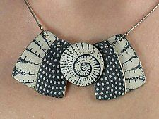 Mini Sasa by Louise Fischer Cozzi (Silver & Polymer Clay Necklace)