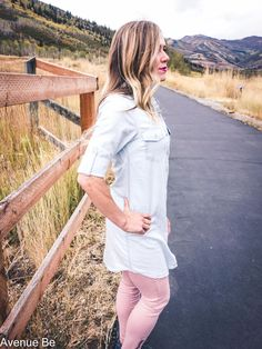 What is better than a chambray shirt? A longer chambray shirt! This is a light wash, lightweight, chambray tunic that is oh so soft. Wear it as a dress, wear it as a shirt, wear it with layers.   http://shopavenuebe.com/products/trending-wrap-jacket-5-colors