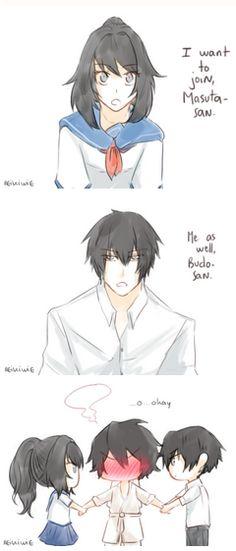 Yan-chan and Yan-kun Interacting with Budo