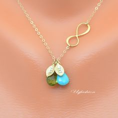 Mother's day jewelry mother's day necklace Two by Uqfashion