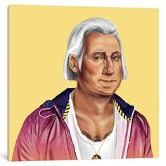 iCanvas George Washington Gallery Wrapped Canvas Art Print by Amit Shimoni