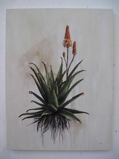 Inky Leaves: Kurt Po and his Aloe Botanical Drawings, Botanical Prints, List Of Paintings, Lino Art, Photo Images, Art Images, Plant Painting, Cactus, Art For Art Sake