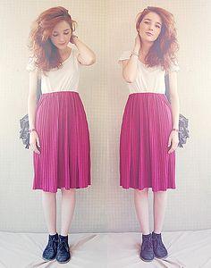 Bata Shoes, Vintage Skirt, Pull T Shirt, H Bag featured by Daniela R. (Portugal)