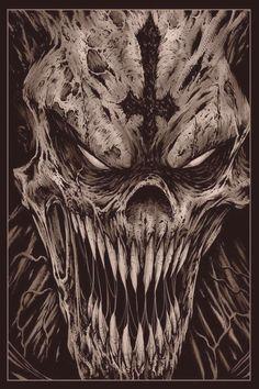 50 Skull Sleeve Tattoos For Men - Male Design Ideas - Ma . - 50 Skull Sleeve Tattoos For Men – Male Design Ideas – Man Style Evil Skull Tattoo, Evil Tattoos, Skull Sleeve Tattoos, Scary Tattoos, Demon Tattoo, Skull Tattoo Design, Dark Tattoo, Yakuza Tattoo, Demon Art