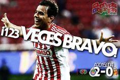 CHIVAS 2-0 MONARCAS    ¡BRAVO CHIVAS! Omar Bravo hace un doblete para vencer al Morelia y llegar a los 123 tantos en el Guadalajara, convirtiéndose así en el goleador histórico del club. Rompe marca de Chava Reyes. El Rebaño derrota 2-0 a los Monarcas.
