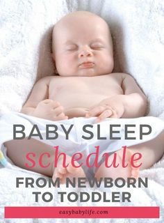 Practical Baby Sleep Schedule From Newborn To Toddler (For Nights and Naps)