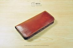 MICO Handstitched minimalist long wallet by MicoHandicraft on Etsy, $1199.00
