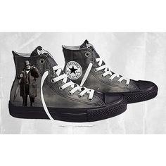 Design Your Own DC Comics x Converse Batman Arkham City Chucks | Sole... ❤ liked on Polyvore featuring shoes and batman