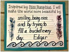 3rd Grade Thoughts: I {Heart} Miss Rumphius