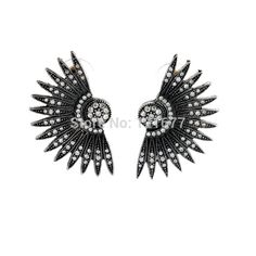Black Shiny Ladies Girls Chic Lovely Jewellery Brinco Grande Earrings Shining Rhinestone Austrian Crystal Earring New Beautiful #Affiliate