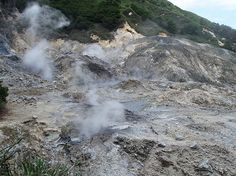 Mount Soufriere, the world's only drive-in volcano, Saint Lucia