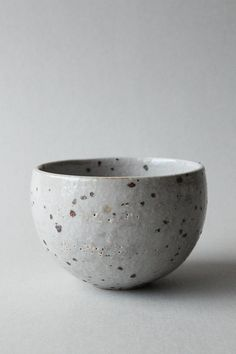 clear glazed speckled round cup/tumbler/beaker (kohiki)