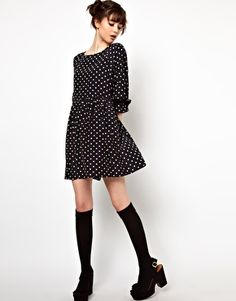 Enlarge The WhitePepper Smock Dress in Polka Dot