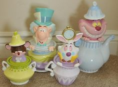 Alice in Wonderland canister set for Mad Hatter party table