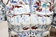 "Contemporary Chinese artists Li Xiaofeng design Lacoste "" porcelain jacket """