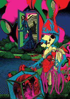illustration for Popper Magazine, Dec 2012 by Elzo Durt. Illustration Photo, Graphic Design Illustration, Baphomet, Illustrator, Serpieri, Psychedelic Drawings, Trippy Wallpaper, Found Art, Dope Art