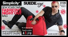 SUEDEsays™ Fashion Night Out Overnight Bag #0109.