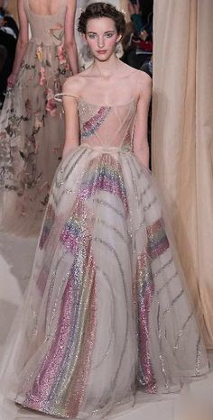 Valentino. More for the construction of the dress than the fabric pattern. Lovely.