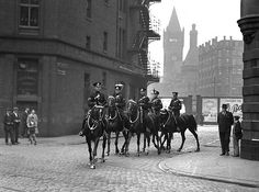 Hooves on the Cobbles | Officers of Manchester City Police's… | Flickr