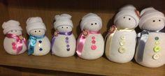 Sock snowman family