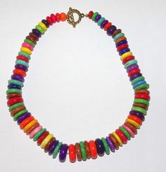 Handmade Beaded Necklace Multicolored Turquoise by SCLadyDiJewelry, $24.95