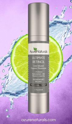 This amazing anti-aging moisturizer is infused with lime and retinol to erase fine lines and wrinkles, smooth skin, treat acne and unclog pores. azurenaturals.com  #organic #retinol #lime #moisturizer #skincare