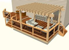 Lots of free deck plans to get your started. Designed for code with detailed drawings any DIYer will love. Free with INSIDER subscription. Free Deck Plans, Stone Deck, House Deck, Deck With Pergola, Backyard Patio Designs, Diy Deck, Decks And Porches, Building A Deck, Detailed Drawings