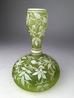 Thomas Webb English cameo glass vase.