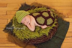 Turtle Crochet Outfit Newborn Turtle Hat and by PumpkinMunchkin, $50.00