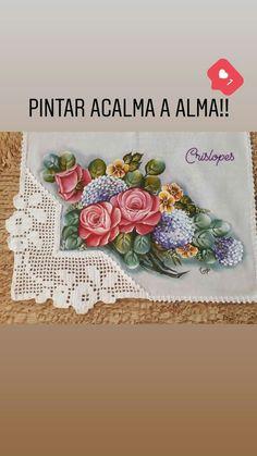 Crochet Borders, Vintage Cards, Textile Art, Cake Decorating, Patches, Paper Crafts, Textiles, Floral, Painting