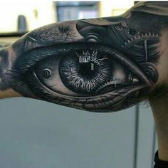 I love the roman numerals in the eye