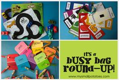 Busy Bag Round Up of Activities for Toddlers and Preschoolers