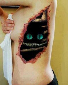 Tim Burton Inspired Tattoos | Cheshire cat tattoo - Tim Burton Alice in Wonderland